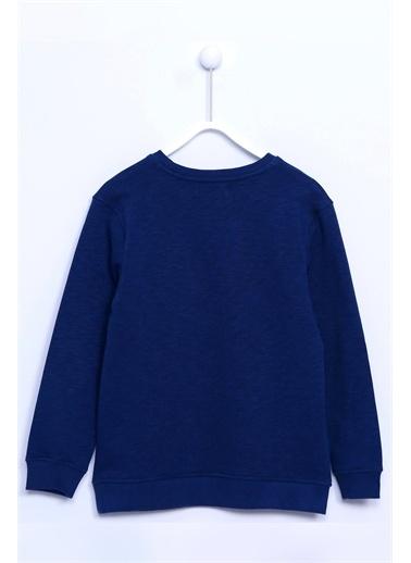 Silversun Kids Kol Ve Etek Ucu Lastik Örme Sweatshirt Js 310690 Lacivert